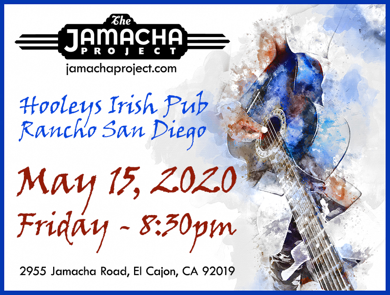 Friday, May 15, 2020, 8:30 pm, Hooleys Public House in Rancho San Diego!